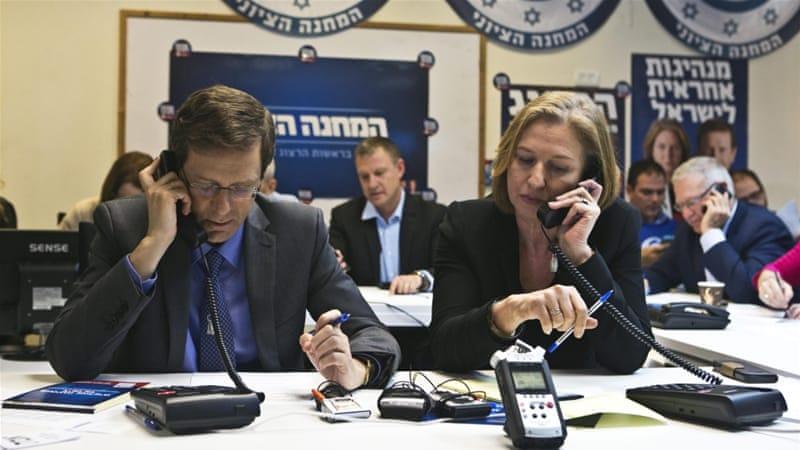 Centre-left Zionist Union lead by Tzipi Livni and Isaac Herzog is ahead of the ruling Likud party [Reuters]