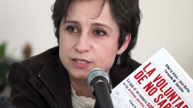 Aristegui's investigative team revealed last year a property scandal involving President Enrique Pena Nieto's wife [AP]