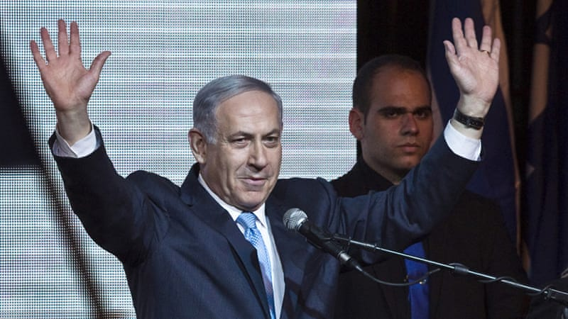 "Netanyahu charged that opponents were trying to get Arab-Israeli voters out ""in droves"" to sway the election against him [Reuters]"