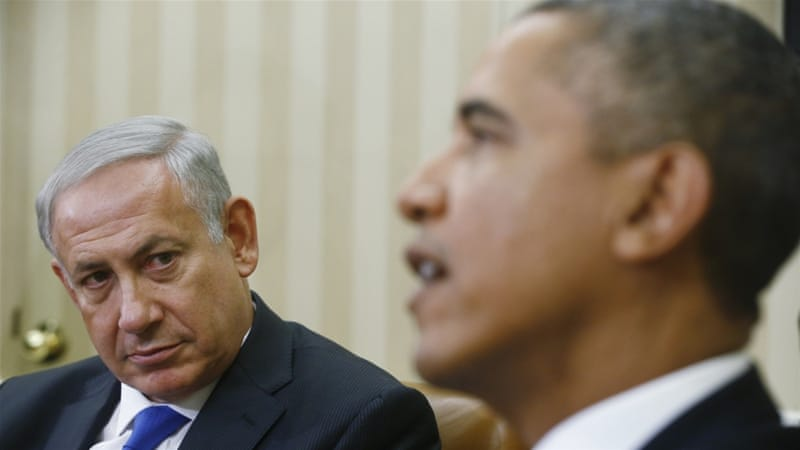 Netanyahu has since backtracked on his campaign statements, but the White House has reacted with skepticism [AP]