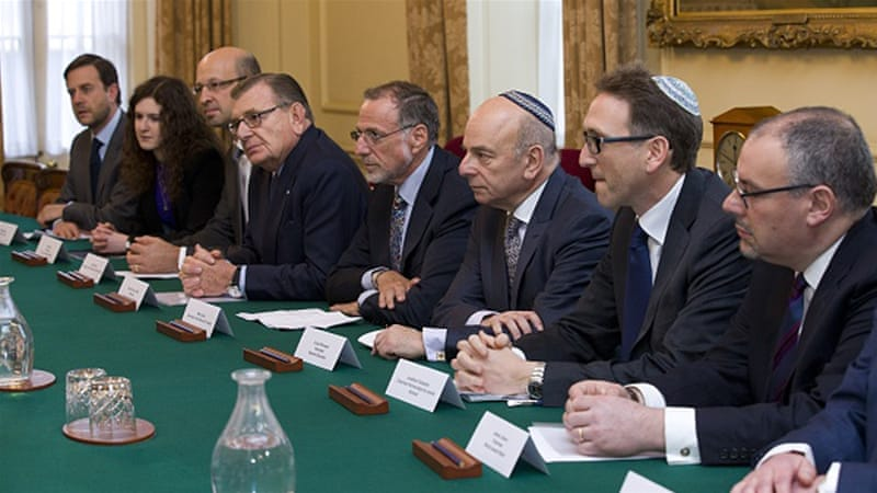 The Jewish Leadership Council during their annual meeting at 10 Downing Street in London on January 13, 2015 [Getty]