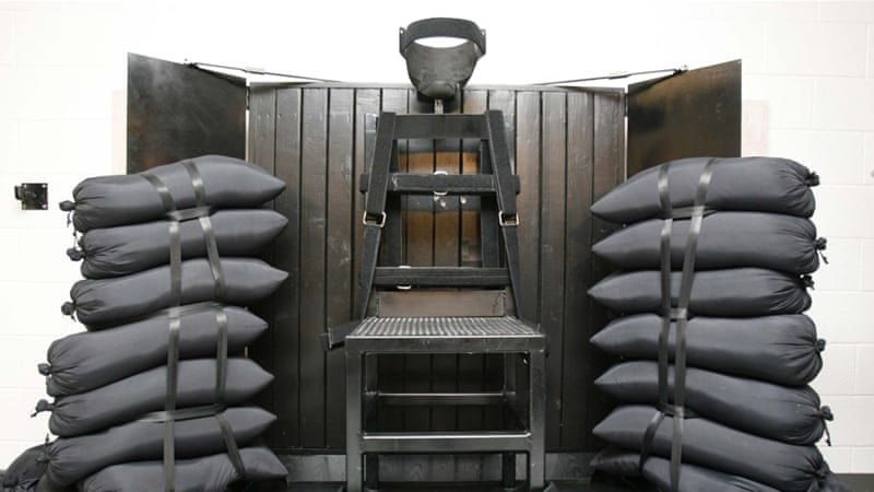 The last execution by firing squad was in 2010, when Ronnie Lee Gardner was put to death by five police officers [AP]