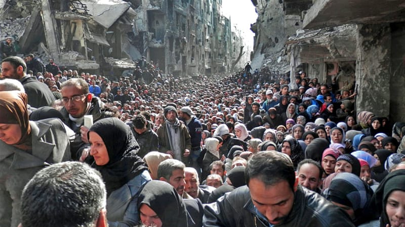 Residents of Yarmouk have suffered from food shortages under a government siege [UNRWA]
