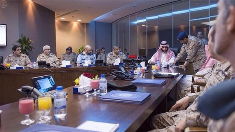 Defence Minister Mohammad bin Salman coordinated the strikes at the Royal Saudi Air Force operations centre near Riyadh [SPAnews]