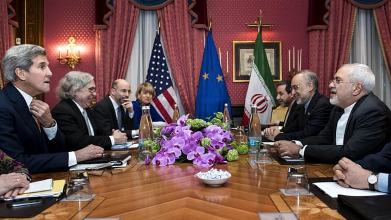 US Secretary of State John Kerry has met with Iranian FM Javad Zarif in the hopes of reaching an outline for a deal by March 31 [Reuters]