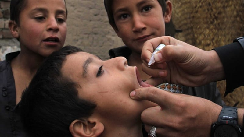 About 60,000 children have missed polio vaccines due to parental refusals this year [EPA]