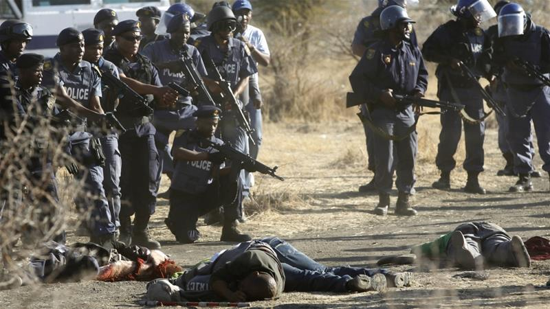 South Africa's police have been accused of brutality and activists want justice served [Reuters]