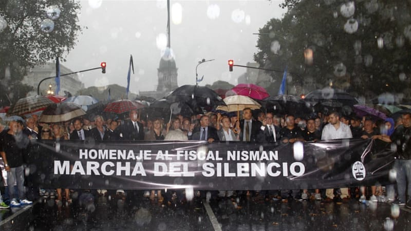 Nisman's case has spawned conspiracy theories involving rogue foreign intelligence agents and the Argentine government [Reuters]
