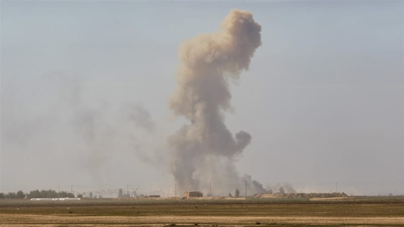 The recapture of Tal Ksaiba on Saturday came as fierce fighting continued on the outskirts of Tikrit [Reuters]