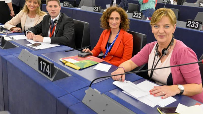 Irish MEP Ni Riada will continue her 'language strike' until March 17, St. Patrick's Day. [European Parliament]