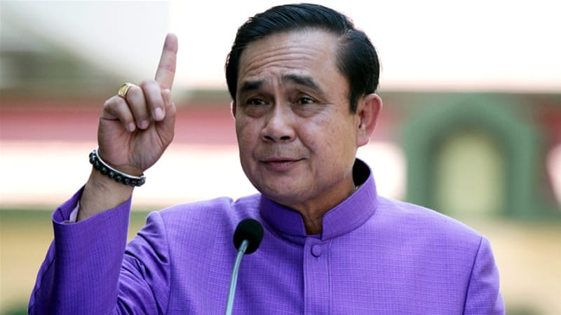 Article 44 of the interim constitution gives Prime Minister Prayuth Chan-ocha power over all aspects of government, law and order [EPA]