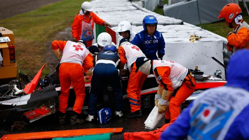 F1 driver Bianchi died of severe injuries suffered when he crashed into a recovery tractor at last October [Getty Images]