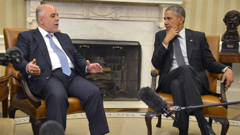 The visit to the US was al-Abadi's first since being elected prime minister in August 2014  [EPA]