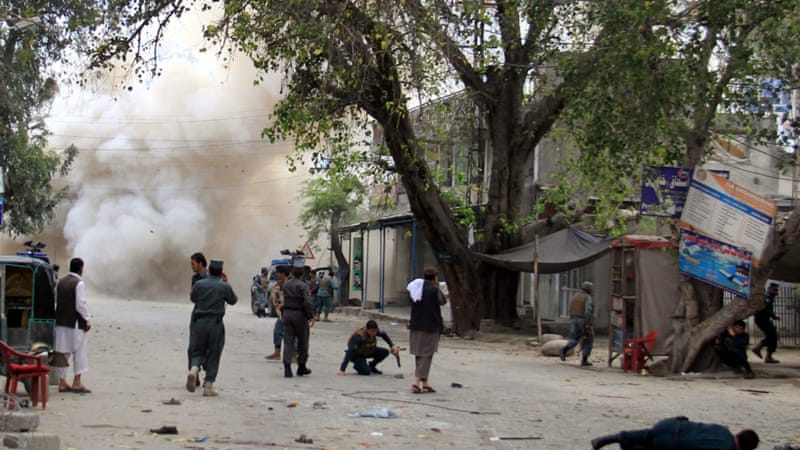 Officials said two other motorcycle bombs were defused in the vicinity of Saturday's attacks in Jalalabad [EPA]