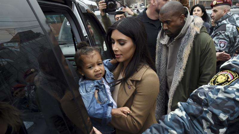 Kanye West and Kim Kardashian in Uganda, Ye gives Twitter performance
