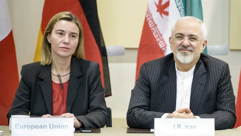 Iran's FM Zarif said that if the results of the negotiations are approved, he and EU foreign policy chief Federica Mogherini would deliver a statement [Reuters]