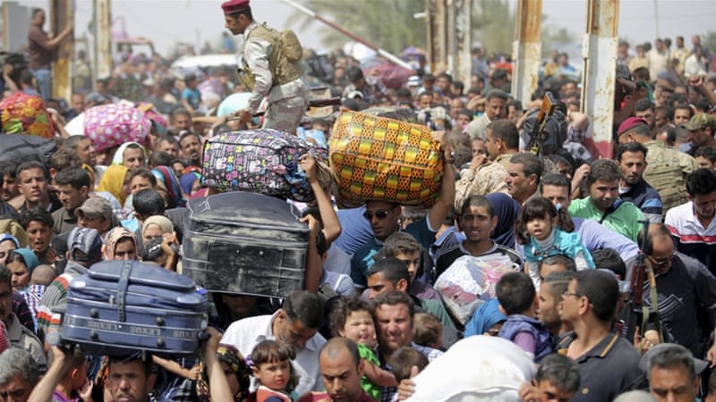 More than 100,000 people have fled their homes in and around Ramada, the capital of Anbar province [Reuters]
