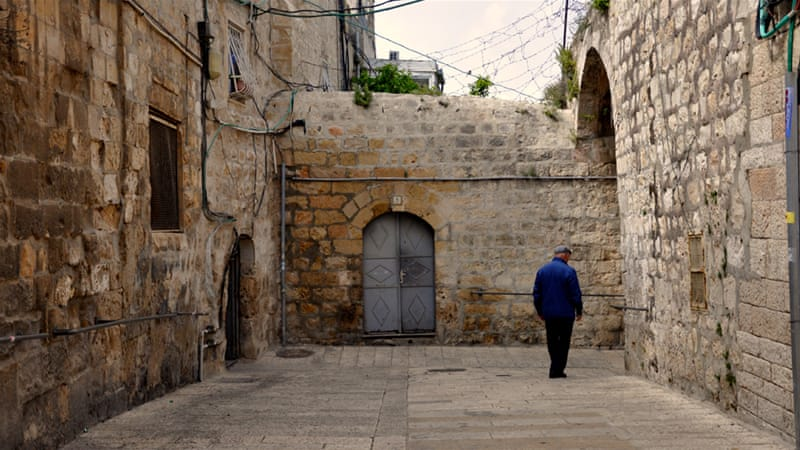 Church officials say the number of Armenians in Palestine has dropped from about 15,000 in 1948 to 4,500 today [Emily Mulder/Al Jazeera]
