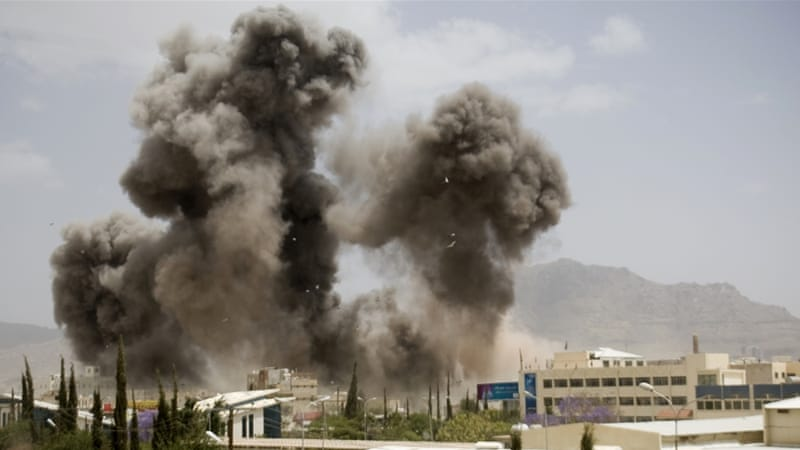 The Saudi-led coalition continues to bomb Yemen daily, as fighting rages across the country [AP]
