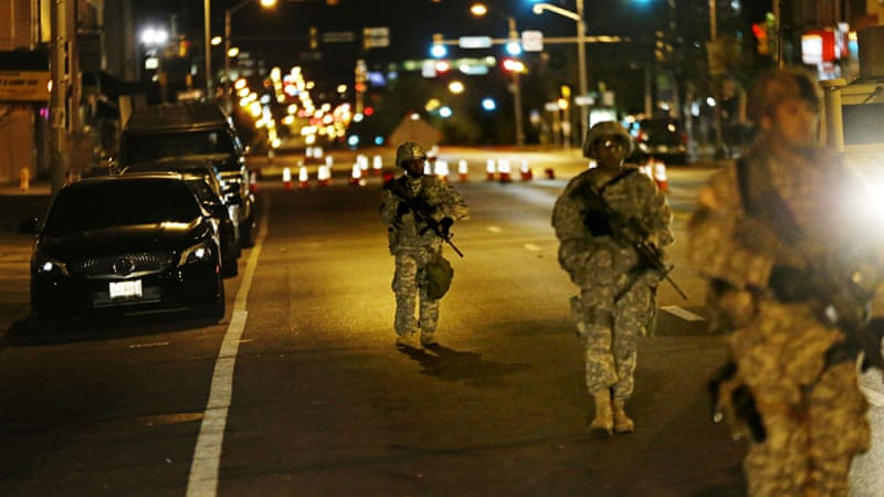 At least 2,000 National Guard members were deployed to the city to enforce the curfew [AP]