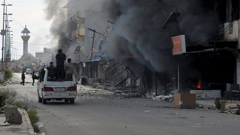 Hundreds of houses were reportedly burned in Tikrit over the past two days [Reuters]