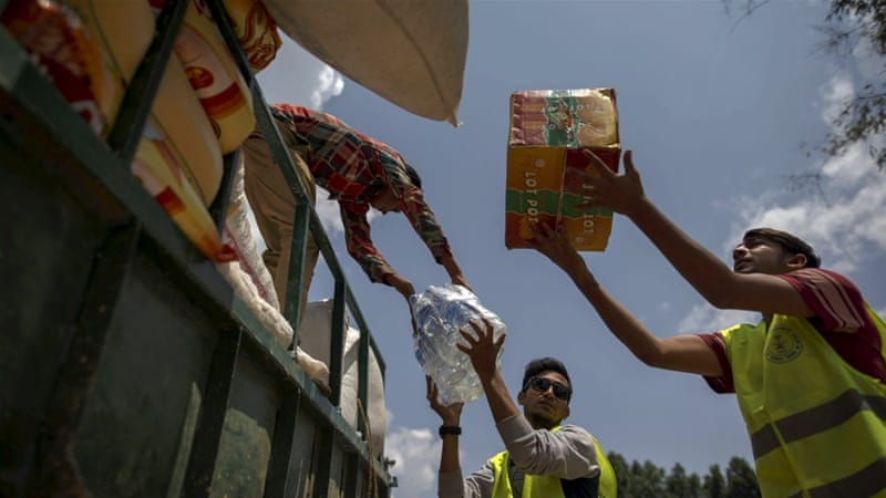 Helicopters finally brought aid to hamlets north of Kathmandu in the mountainous Gorkha District near the quake's epicentre  [Reuters]
