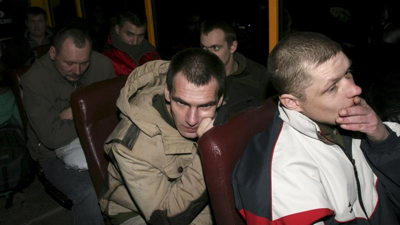 Rebels released Ukrainian army prisoners in an exchange earlier in April [Reuters]