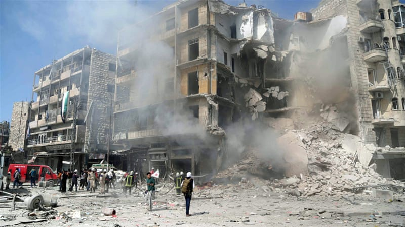 The Syrian government has been accused of dropping barrel bombs in several towns north of the country [Reuters]