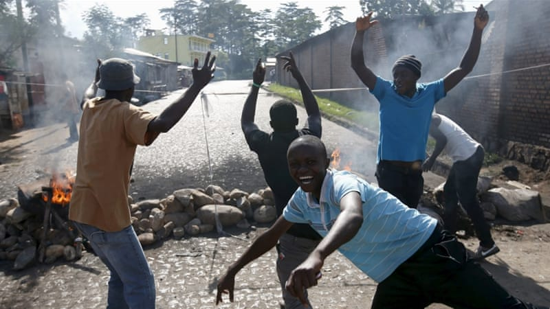Burundi has been hit by a wave of protests after President Pierre Nkurunziza announced his intention to run for a third term [REUTERS]