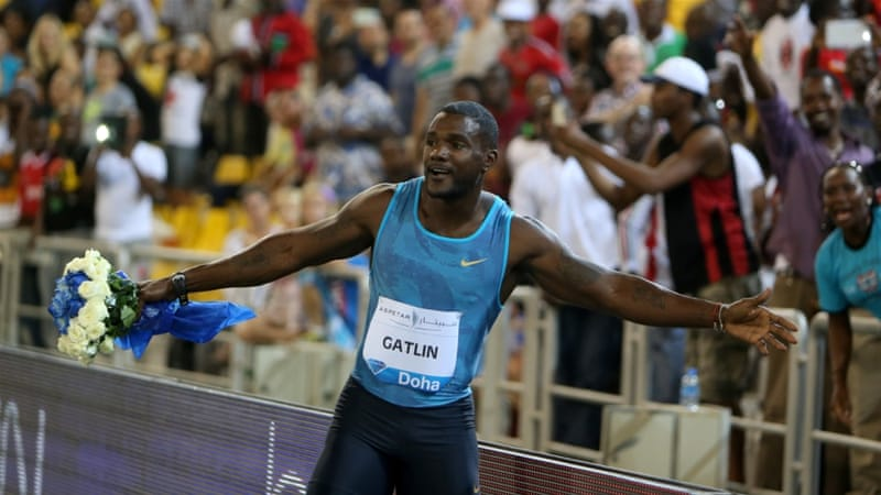 Gatlin storms to personal best in Diamond League opener ...