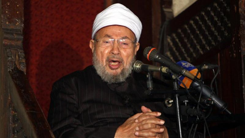 "An Egyptian court sentenced Qaradawi for ""incitement to murder"" and ""vandalising public property"" [The Associated Press]"