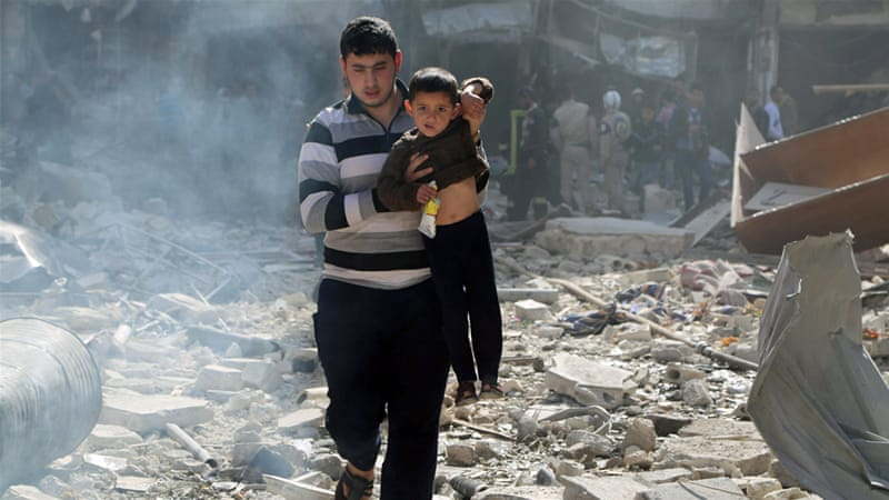 Aleppo has been badly damaged with thousands of homes completely destroyed due to the war in Syria [Reuters]