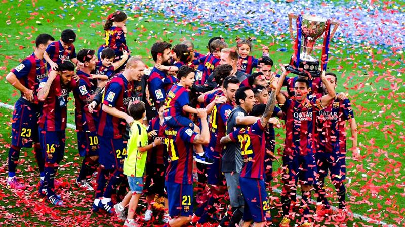 This is Barcelona's fifth league title in seven years [Getty Images]