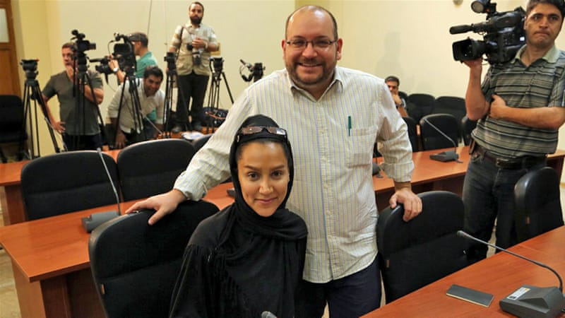 Jason Rezaian was arrested along with his wife Yeganeh Salehi in July but Salehi was freed on bail in October 2014 [EPA]