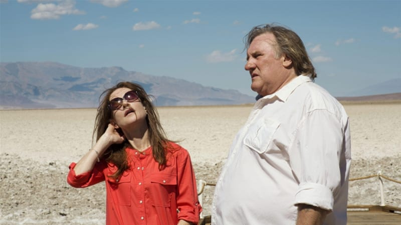 French actors Isabelle Huppert and Gerard Depardieu in a scene from 'Chronic' [EPA]
