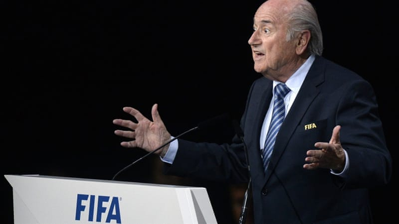 Blatter's win came despite demands that he quit in the face of a bribery scandal [AP]