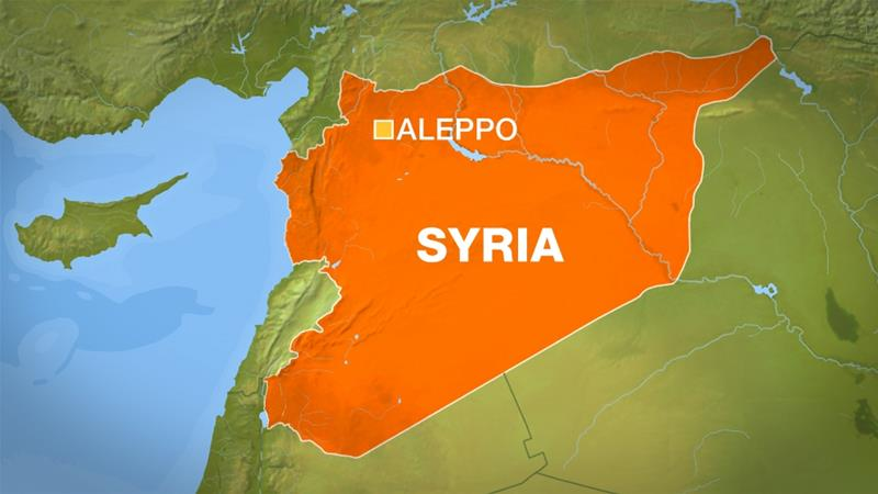 Syria war: Civilians die in Aleppo rocket attack
