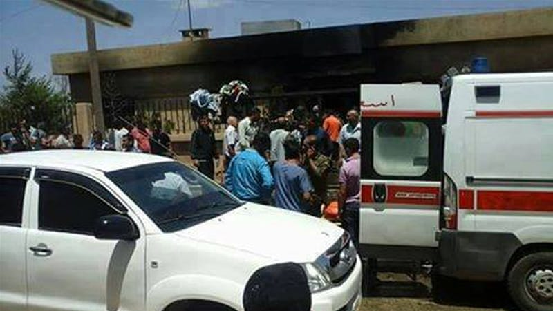 Dozens of people surviving the blast were badly injured [Local activists]