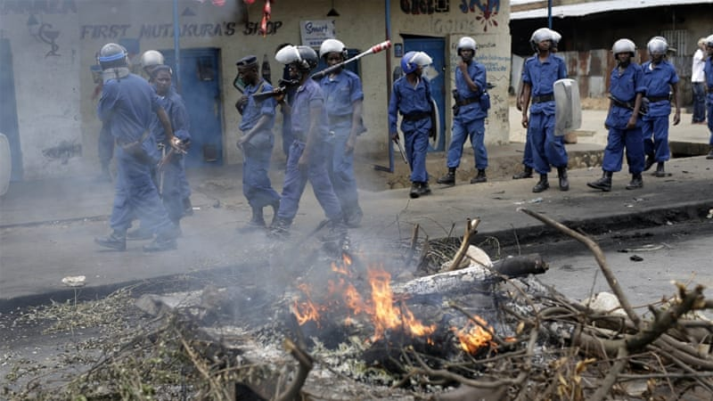 Burundi has been rocked by protests that killed at least 100 dead and saw an attempted coup in mid-May [AP]