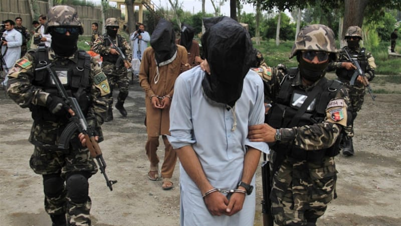 Four suspected Taliban members allegedly involved in criminal activities in Jalalabad, Afghanistan [EPA]