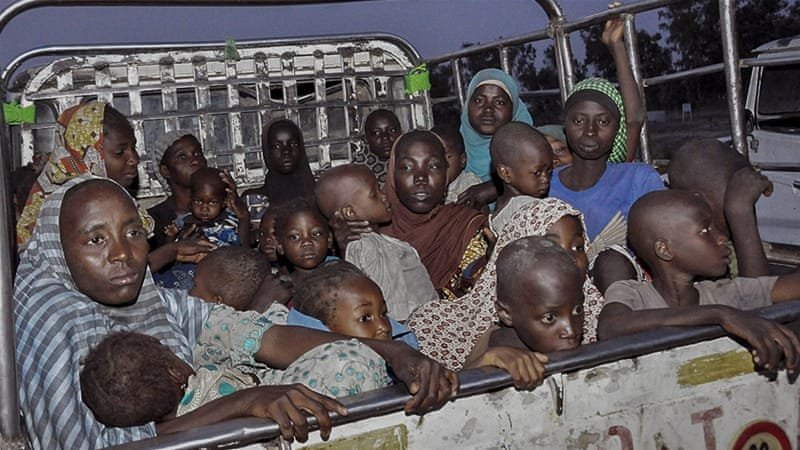 About 700 children and women have been rescued in the past week from Boko Haram [EPA]