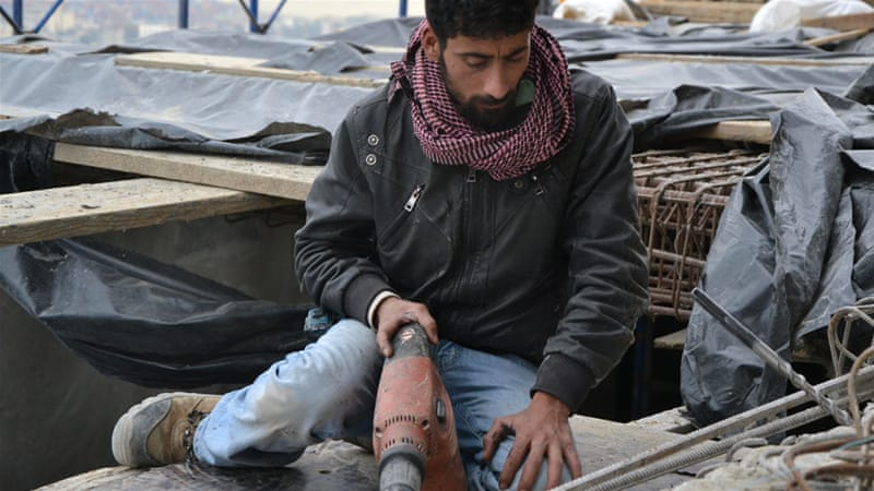 According to the ILO, around 12 percent of Syrian refugees work in construction in Lebanon [Sara Manisera/Al Jazeera]
