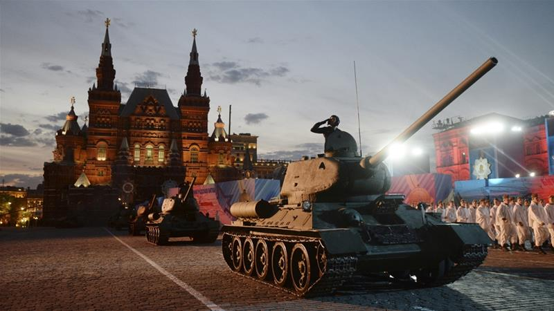 Western nations boycott Russia's Victory Day parade