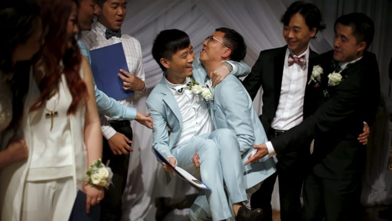 China decriminalised homosexuality in 1997, but does not recognise same-sex marriages [Reuters]