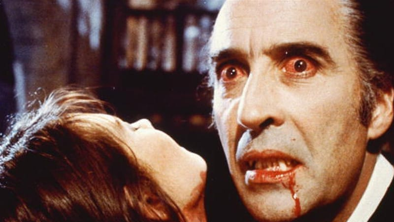 Christopher Lee as Count Dracula in a 1972 film [Getty]
