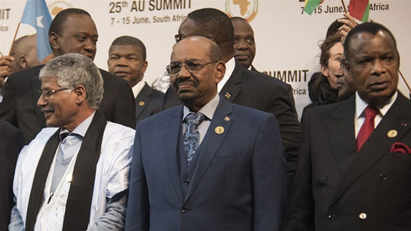 Sudanese President Omar al-Bashir came to South Africa for the AU Summit in Sandton, Johannesburg [AP]
