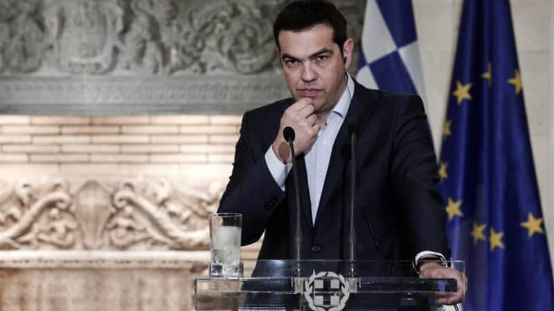 Greece has fallen back into a mild recession and market concerns are growing as its deadline for a deal looms [AFP/Getty Images]