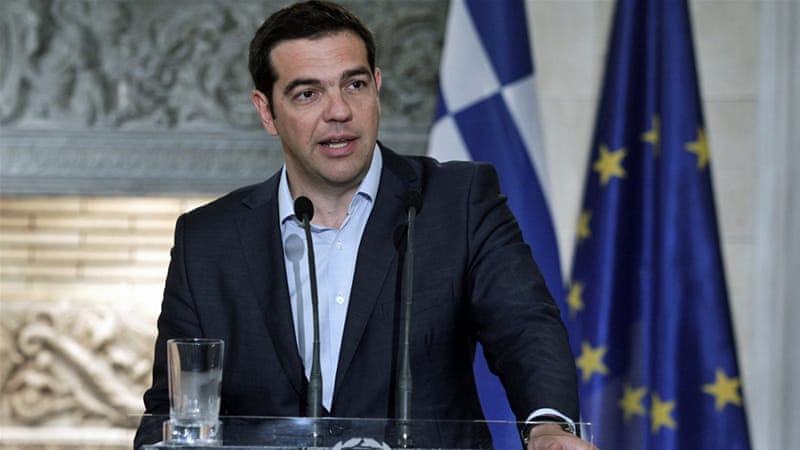 "Greek Prime Minister Alexis Tsipras has criticised EU's ""fixation"" on pension cuts for blocking any hopes of reaching a deal [EPA]"
