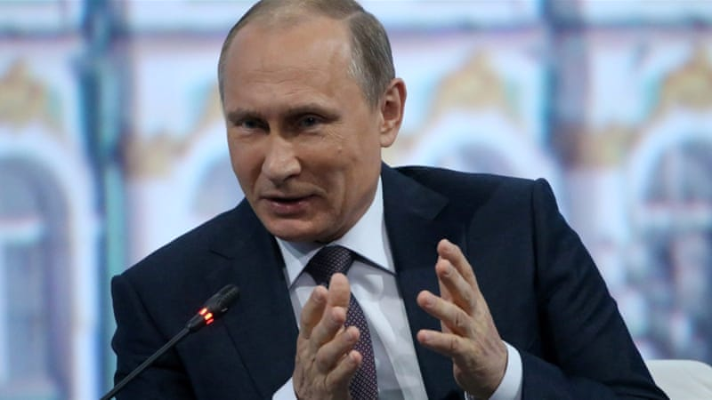 President Putin said it was up to the Syrian people to decide the fate of Assad [Getty]