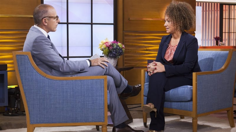 Former NAACP Spokane chapter leader Rachel Dolezal appears on the Today show during an interview with co-host Matt Lauer [AP]